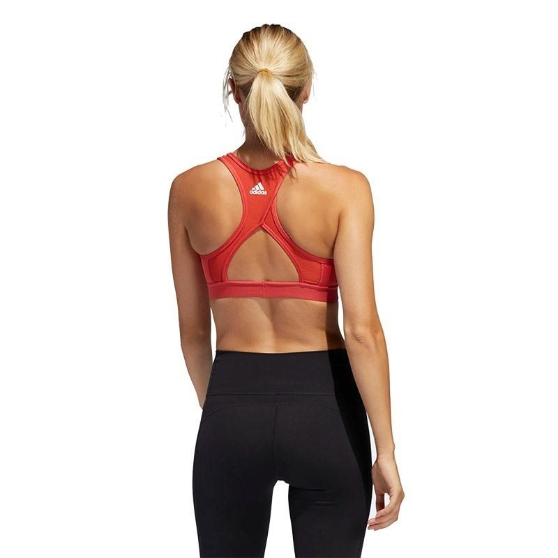 Adidas Don't Rest 3-Stripes Sporcu Sütyeni Kırmızı