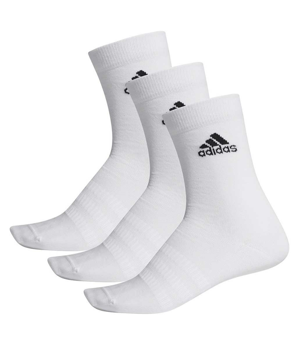 Adidas Light Crew 3'lü Çorap Beyaz