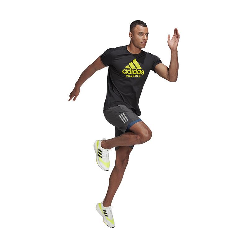 Adidas Run Logo Graphic T-Shirt Siyah