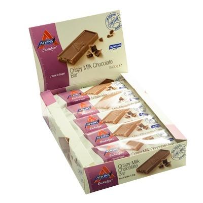 Atkins Endulge Crispy Milk Chocolate Bar 30 Gr 15 Adet