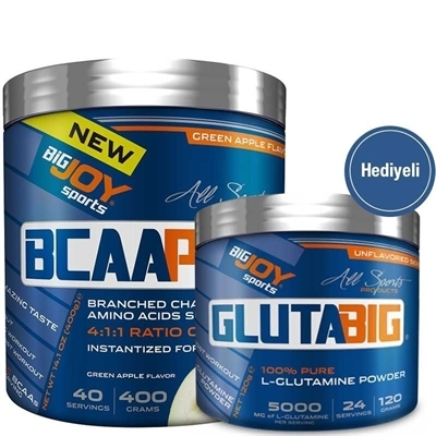 Big Joy BCAA Pro 400 Gr + Big Joy Gluta Big Glutamine 120 Gr Hediyeli
