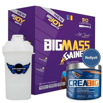 Big Joy Big Mass 5000 Gr 50 Saşe + Crea Big Kreatin 120 Gr Hediyeli
