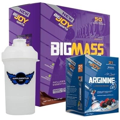 Big Joy Big Mass 50 Saşe + Arginine GO Kombinasyonu