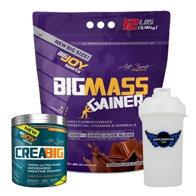 Big Joy Big Mass 5440 Gr + Crea Big Creatine Powder 300 Gr Kombinasyonu