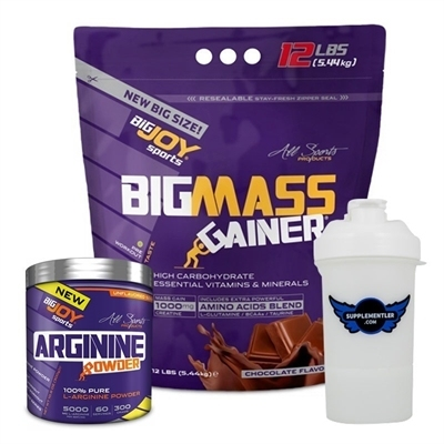 Big Joy Big Mass 5440 Gr + Pure L-Arginine Powder 300 Gr Kombinasyonu