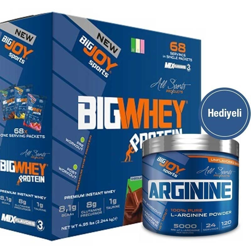 Big Joy Big Whey 2244 Gr Mix-3 + Arginine Powder 120 Gr Hediyeli