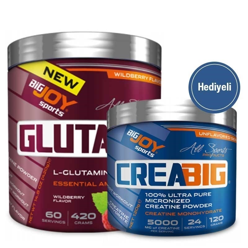 Big Joy GlutaBig Glutamin 420 Gr + Crea Big Creatine 120 Gr Hediyeli