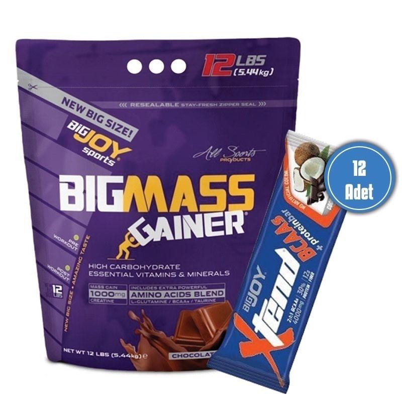 Bigjoy 5.44kg mass gainer + Xtend Protein Bar 1 kutu