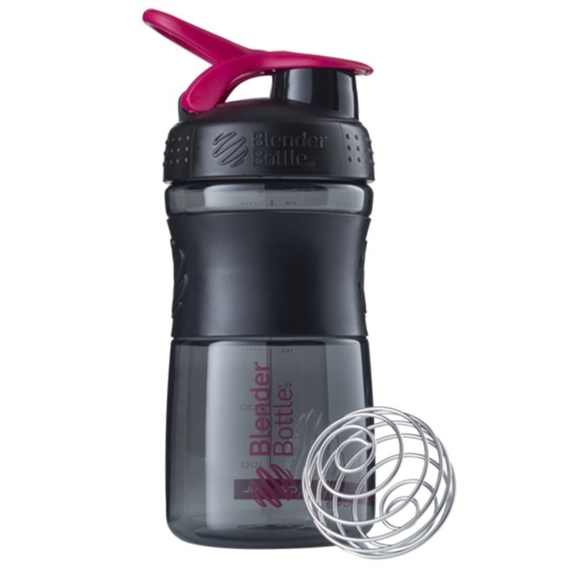 Blender Bottle Sportmixer Siyah Pembe 500 ML
