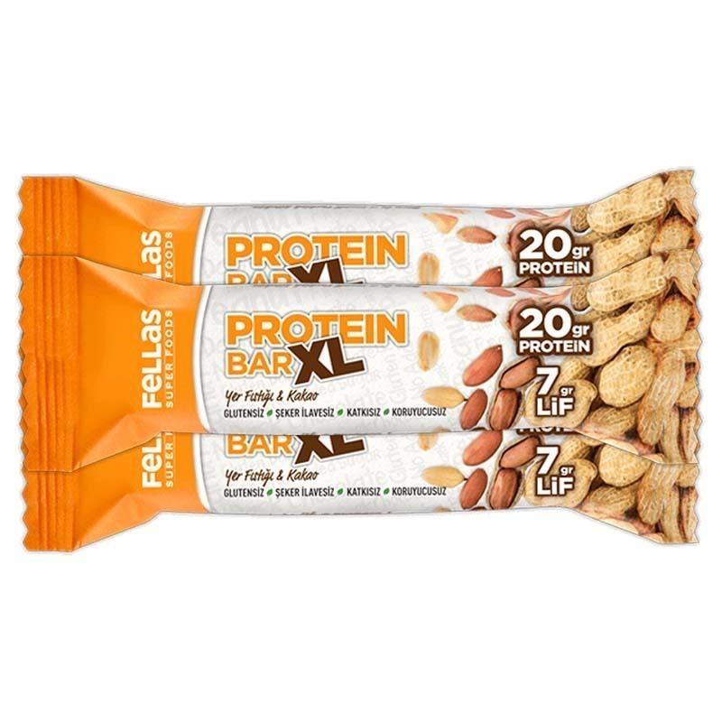 Fellas Protein Bar XL 60 Gr Yer Fıstığı & Kakao 16 Adet