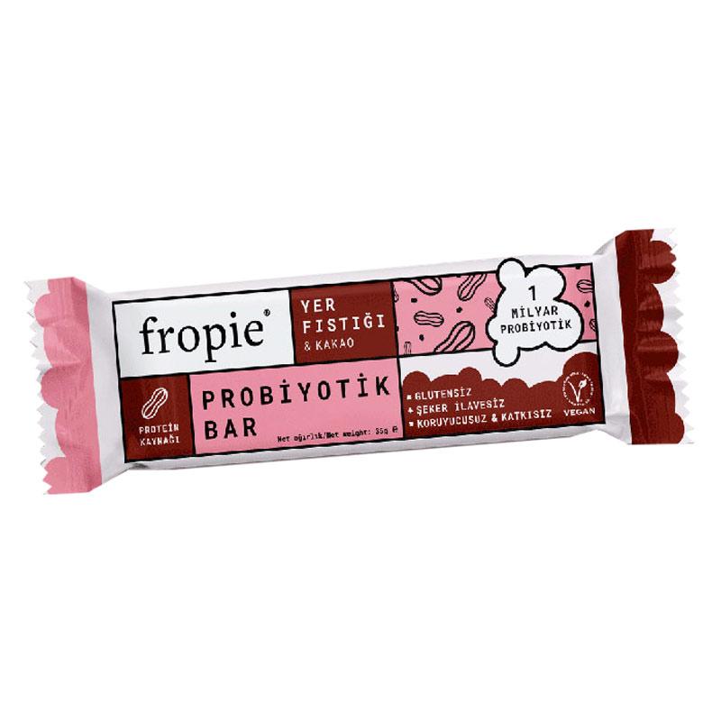 Fropie Yer Fıstığı Kakao Probiyotik Bar 35 Gr 12 Adet