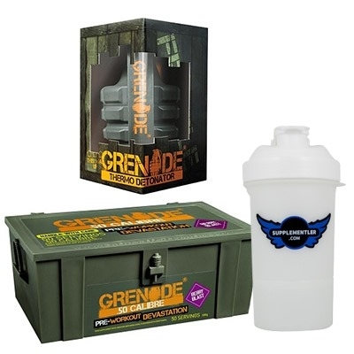 Grenade 50 Calibre + Grenade Thermo Detonator + Supplementler Shaker