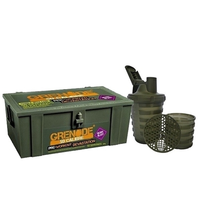 Grenade 50 Calibre Pre-Workout + Shaker Kombinasyonu
