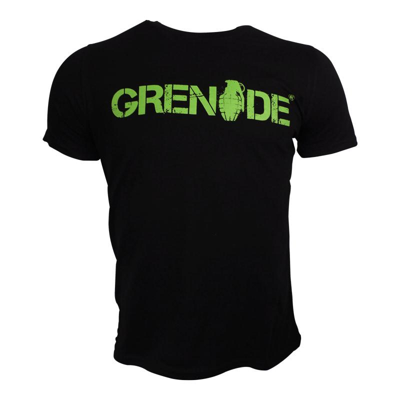 Grenade Kısa Kollu T-Shirt Siyah - Yeşil