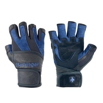 Harbinger BioFlex Eldiven Wristwrap Siyah ve Mavi