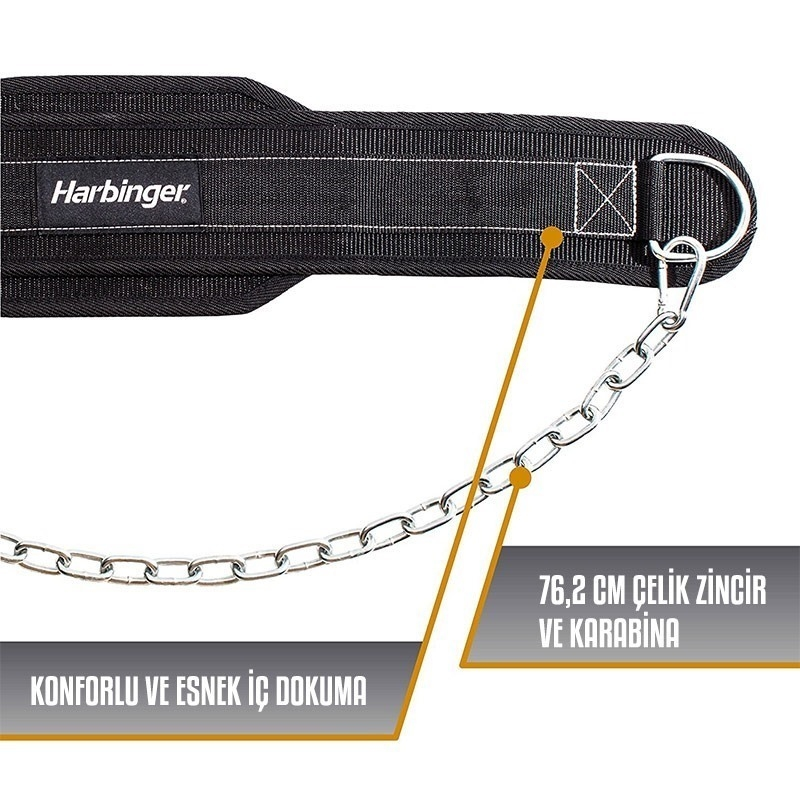Harbinger Leather Dip Belt Deri Dips Kemeri