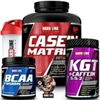Hardline Casein Matrix + KGT + BCAA Fusion Kombinasyonu