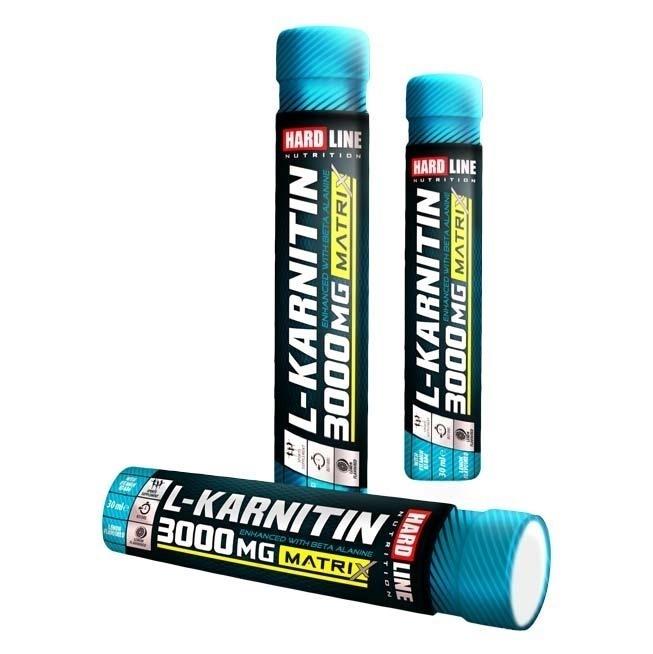 Hardline L-Karnitin Matrix 3000 Mg 20 Ampül