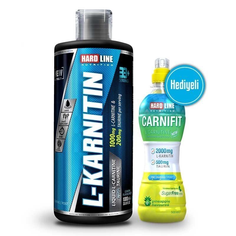 Hardline L-Karnitin Sıvı 1000 ML + 1 Carnifit 500 ML