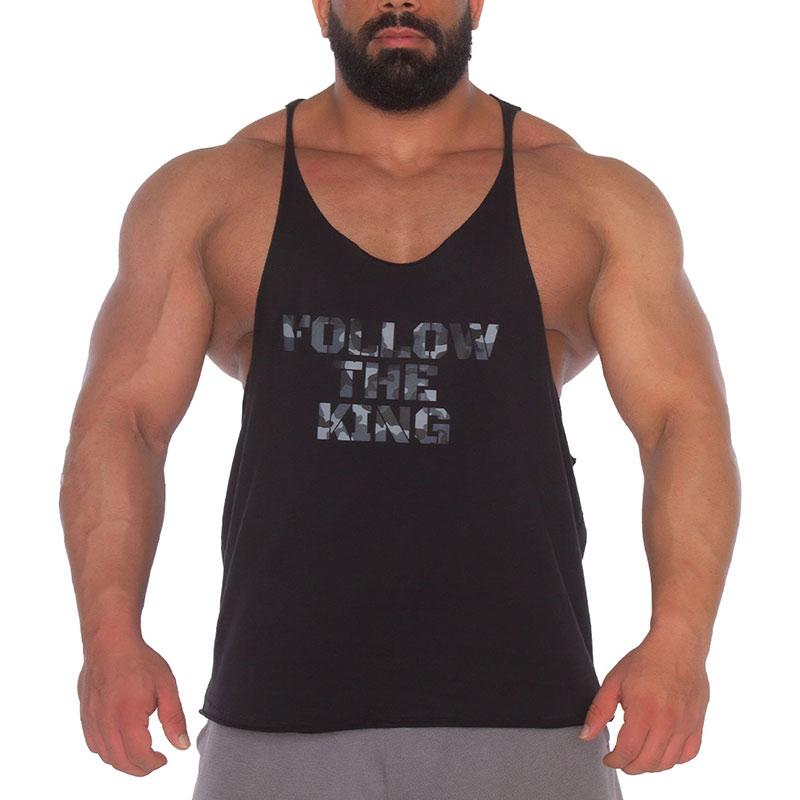 Kingsize Follow The King Antrenman Atleti Ön Baskılı Kamuflaj Siyah