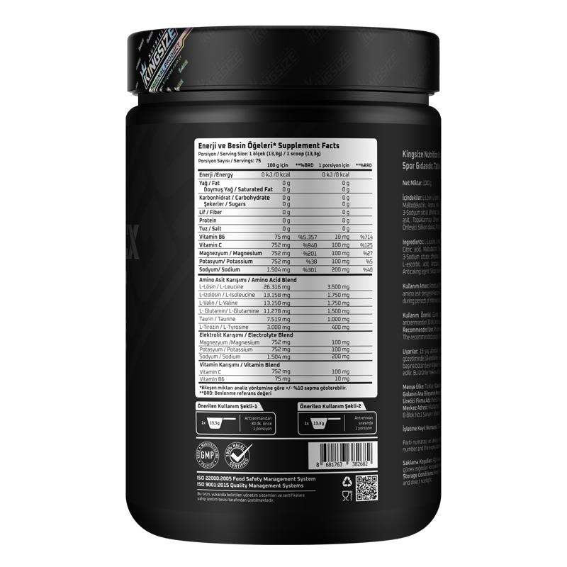 Kingsize Nutrition BCAA Complex Powder 1000 Gr