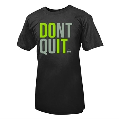 LifeASRX Don't Quit T-Shirt Siyah