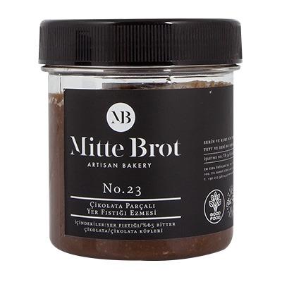 Mitte Brot Çikolata Parçacıklı Yer Fıstığı Ezmesi