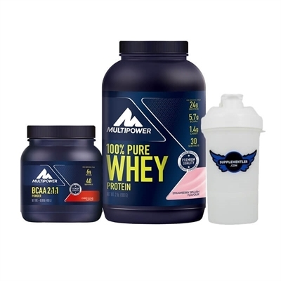 Multipower Pure Whey Protein 900 Gr + BCAA Powder Kombinasyonu