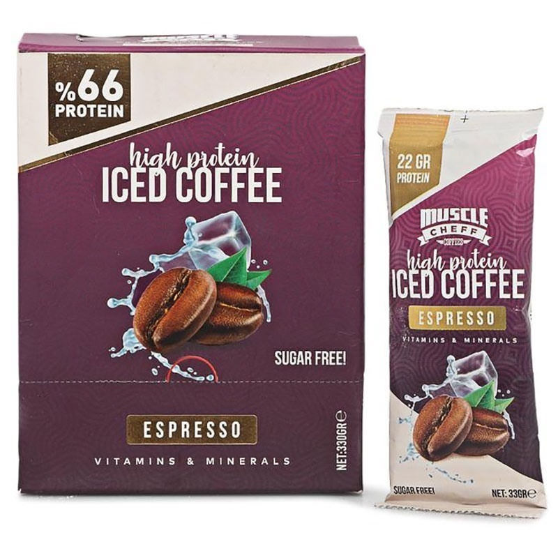 Muscle Cheff High Protein Iced Coffee 33 Gr 10 Saşe