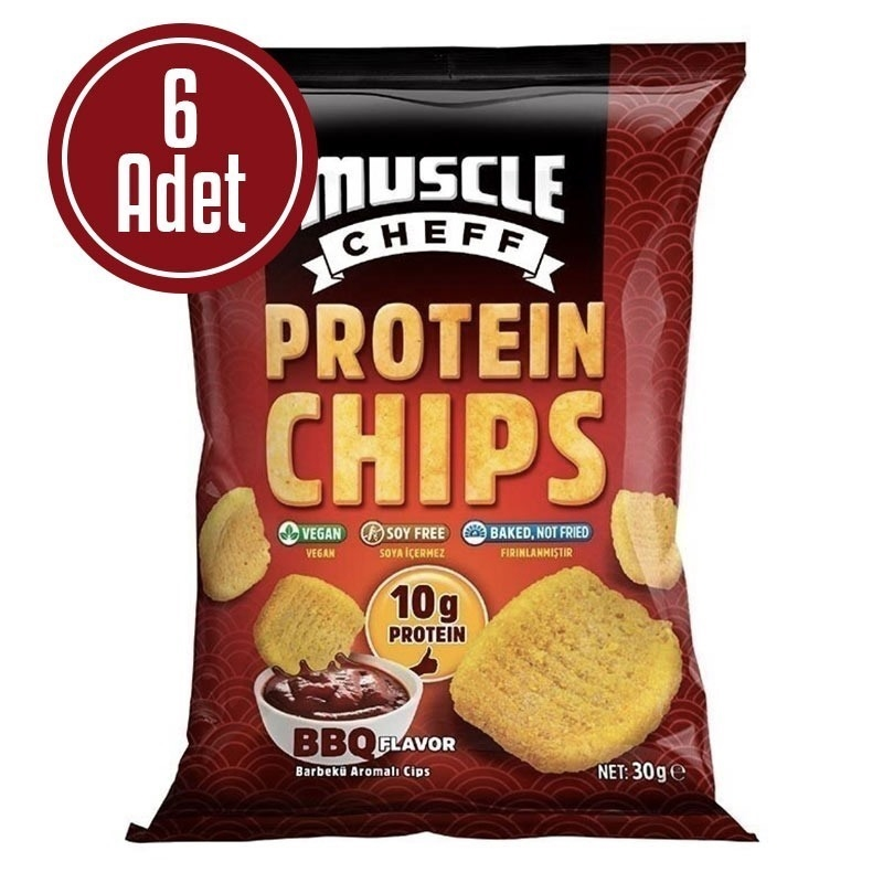 Muscle Cheff Protein Chips 30 Gr 6 Adet