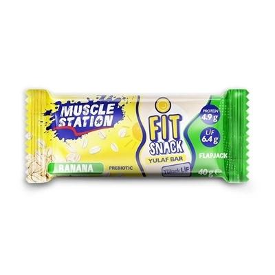 Muscle Station Fit Snack Yulaf Bar Banana 40 Gr 1 Adet