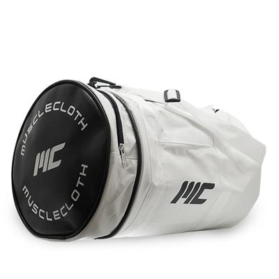 MuscleCloth Deri Silindir Çanta - Beyaz