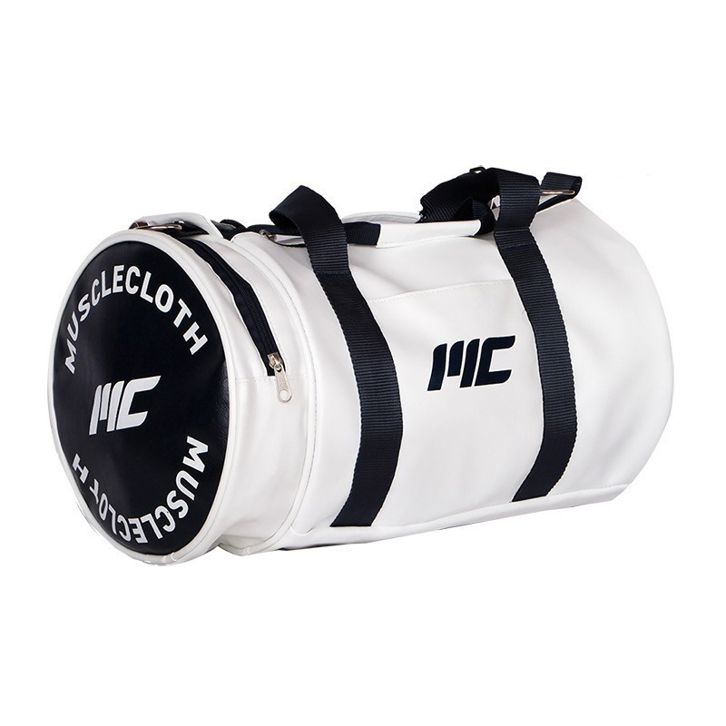 MuscleCloth Deri Silindir Çanta Beyaz