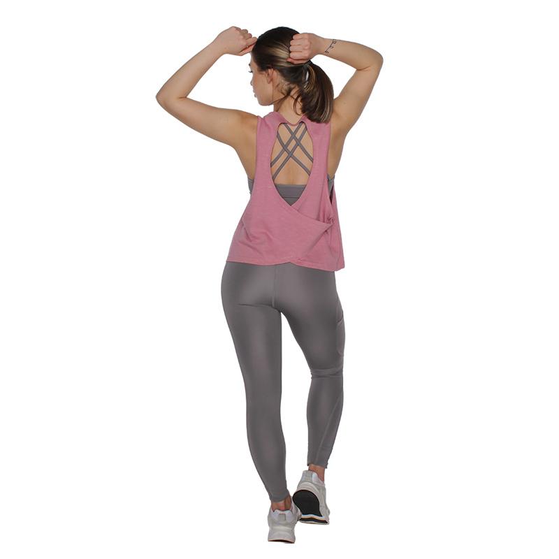 MuscleCloth Elise Çapraz Sırtlı Atlet Pembe