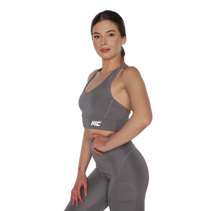MuscleCloth Elise Sporcu Sütyeni Gri