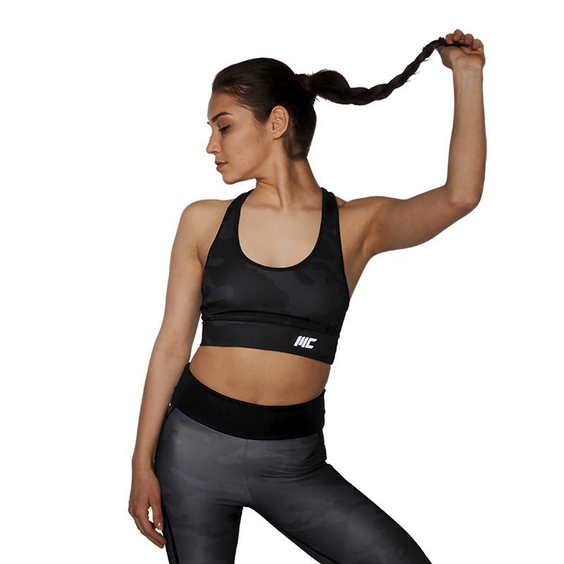 MuscleCloth Elise Sporcu Sütyeni Siyah Kamuflaj