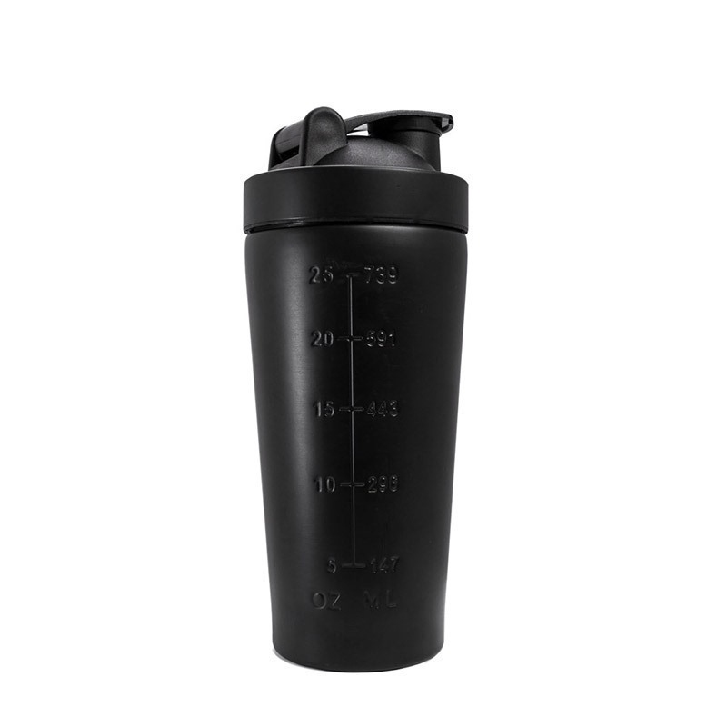 MuscleCloth Paslanmaz Çelik Shaker 739 ml Siyah