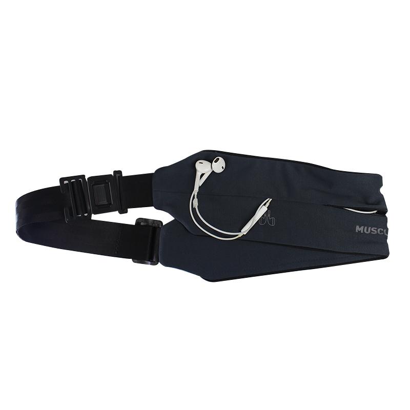 MuscleCloth Running Belt Bel Çantası Gri