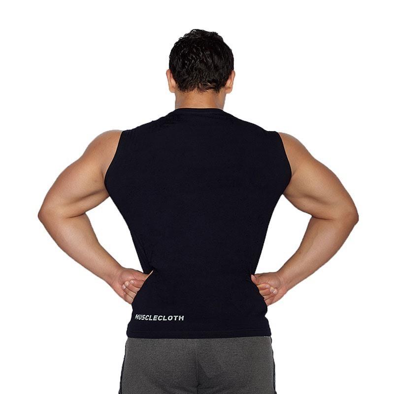 MuscleCloth Training Kolsuz T-Shirt Lacivert
