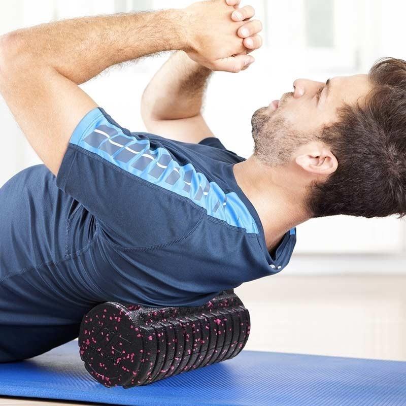 MuscleCloth Trigger Masaj Roller 45cm Siyah-Pembe