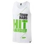 MusclePharm Atlet 'Train Hard Hit Harder' Beyaz