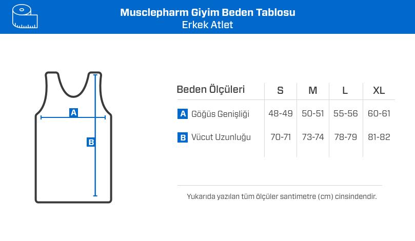 MusclePharm Atlet 'Train Hard Hit Harder' Siyah
