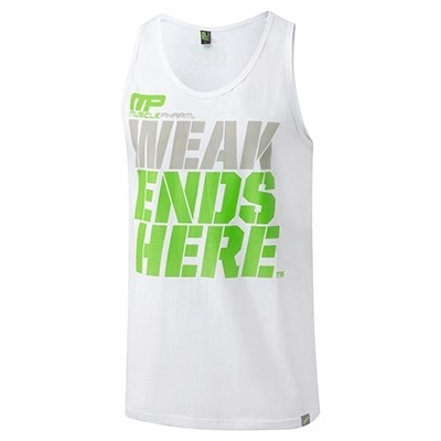 MusclePharm Atlet 'Weak Ends Here' Beyaz