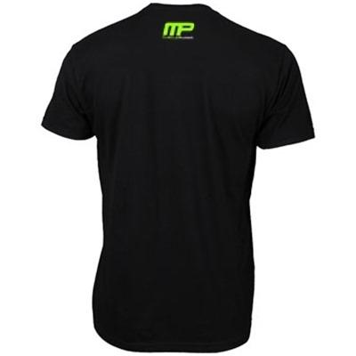MusclePharm Kadın T Shirt 'Strong is The New Sexy' Siyah ve Yeşil