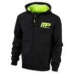 MusclePharm Kapüşonlu Fermuarlı Sweat Shirt 'MP' Siyah