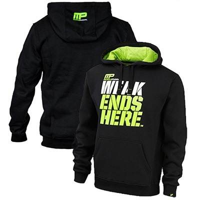 MusclePharm Kapüşonlu Sweat Shirt 'Weak Ends Here' Siyah
