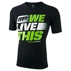 MusclePharm T Shirt 'We Live This' Siyah