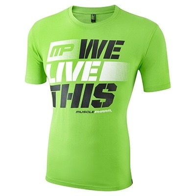 MusclePharm T Shirt 'We Live This' Yeşil