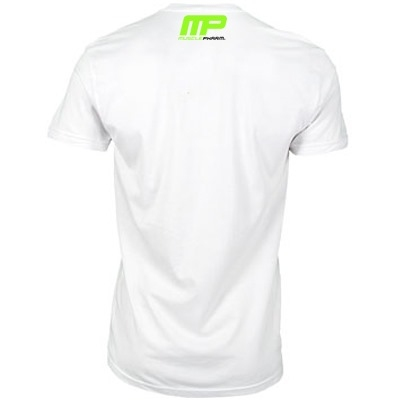 MusclePharm T Shirt 'Weak Ends Here' Beyaz