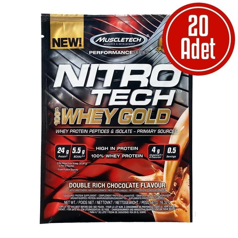 Muscletech Nitrotech %100 Whey Gold Protein 16,32 Gr x 20 Saşe